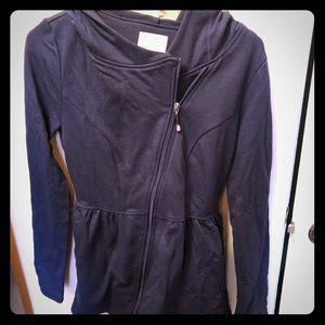 Brand new navy blue ModCloth hooded jacket